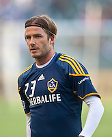 CARSON, CA – June 11, 2011: LA Galaxy midfielder David Beckham (23) before the match between LA Galaxy and Toronto FC at the Home Depot Center in Carson, California. Final score LA Galaxy 2, Toronto FC 2.