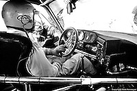 Danny Ongais sits in the Interscope Porsche 935 entered in the 1982 race by Ted Field.