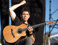 Acoustic guitar maestros Rodrigo y Gabriela strumming up a storm at the Point Nepean music festival.