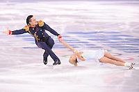 OLYMPICS: SOCHI: Iceberg Skating Palace, 11-02-2014, Figure Skating, Pair Short Program, Tatiana Volosozhar and Maxim Trankov (RUS), ©photo Martin de Jong