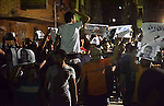 Egyptian youths who support ousted President Mohamed Morsi and the Muslim Brotherhood take part in a protest against killing of their fellow, in Cairo, on May 31, 2015. Photo by Stringer