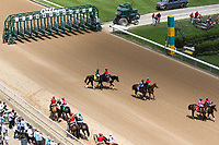 HOT SPRINGS, AR - April 15: Horses parade prior to the third race at Oaklawn Park on April 15, 2017 in Hot Springs, AR. (Photo by Ciara Bowen/Eclipse Sportswire/Getty Images)