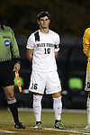 11 November 2015: Wake Forest's Ian Harkes. The Wake Forest University Demon Deacons hosted the University of Notre Dame Fighting Irish at Spry Stadium in Winston-Salem, North Carolina an Atlantic Coast Conference Tournament Semifinal game and a 2015 NCAA Division I Men's Soccer match. Notre Dame won the game 1-0 and advanced to the ACC Championship final.