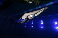 The first Norwegian freediving championship, held in Askinm, Norway..Elisabeth Kristoffersen swimming DYN 142 meters..© Fredrik Naumann/Felix Features