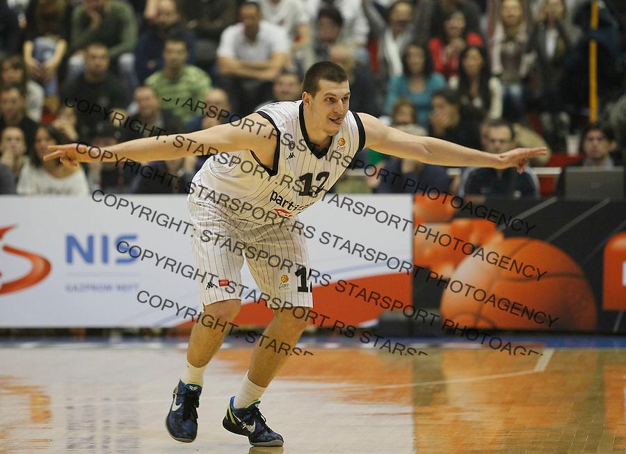 Kosarka, ABA League, season 2010/2011.Partizan Vs. Crvena Zvezda Beograd.Dragan Milosavljevic, react.Belgrade, 25.12.2011..foto: Srdjan Stevanovic/Starsportphoto.com ©