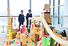 Southbank Centre's Imagine Children's Festival <br /> at the Royal Festival Hall, Southbank, London, Great Britain <br /> 13th February 2015 <br /> <br /> Children interact with Our City installation <br /> <br /> <br /> <br /> Photograph by Elliott Franks <br /> Image licensed to Elliott Franks Photography Services