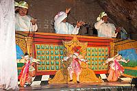 Myanmar, Burma. Bagan.  Burmese Marionette Performers.