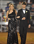 Senior maid Sarah Cox is escorted by Clint Lokey at Lafayette High vs. Lewisburg in Homecoming football action in Oxford, Miss. on Friday, September 30, 2011.