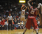 "Ole Miss guard Zach Graham (32) makes a three-pointer against Arkansas at C.M. ""Tad"" Smith in Oxford, Miss. on Saturday, March 5, 2010. Ole Miss won 84-74."