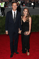 """NEW YORK CITY, NY, USA - MAY 05: Edward Norton, Shauna Robertson at the """"Charles James: Beyond Fashion"""" Costume Institute Gala held at the Metropolitan Museum of Art on May 5, 2014 in New York City, New York, United States. (Photo by Xavier Collin/Celebrity Monitor)"""