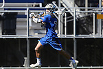 08 February 2015: Air Force's Joe Matarazzo. The Duke University Blue Devils hosted the United States Air Force Academy Falcons at Koskinen Stadium in Durham, North Carolina in a 2015 NCAA Division I Men's Lacrosse match. Duke won the game 13-7.