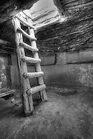 Kiva Ladder - Utah (BW)<br />