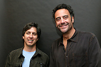 28 February 2009: Actors Ray Romano and Brad Garrett of 'Everybody Loves Raymond' during the  7th Annual WPT World Poker Tour Invitational at the Commerce Casino in Los Angeles, CA. Players compete for poker glory and a  piece of the $200,000 prize pool. Celebrity and Pro card players in action.