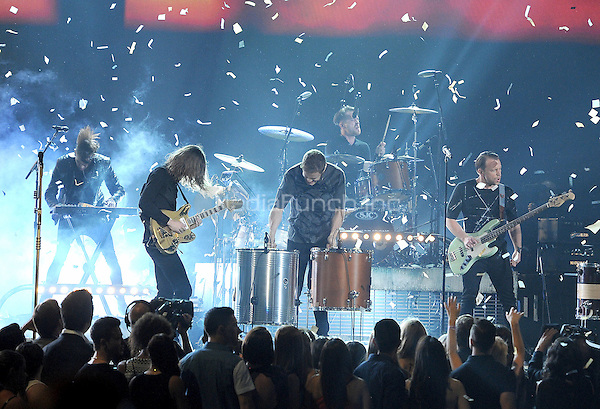LAS VEGAS, NV - MAY 18: 5 Imagine Dragons perform on the 2014 Billboard Music Awards at the MGM Grand Garden Arena on Sunday, May 18, 2014 in Las Vegas, Nevada.PGMicelotta/MediaPunch