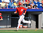 2 March 2011: Washington Nationals outfielder Bryce Harper trots home to score during Spring Training action against the Florida Marlins at Space Coast Stadium in Viera, Florida. The Nationals defeated the Marlins 8-4 in Grapefruit League action. Mandatory Credit: Ed Wolfstein Photo