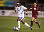 2 December 2005: UCLA's Danesha Adams (l) is chased by FSU's Colette Swensen. The UCLA Bruins defeated the Florida State Seminoles 4-0 in their NCAA Division I Women's College Cup semifinal at Aggie Soccer Stadium in College Station, TX.