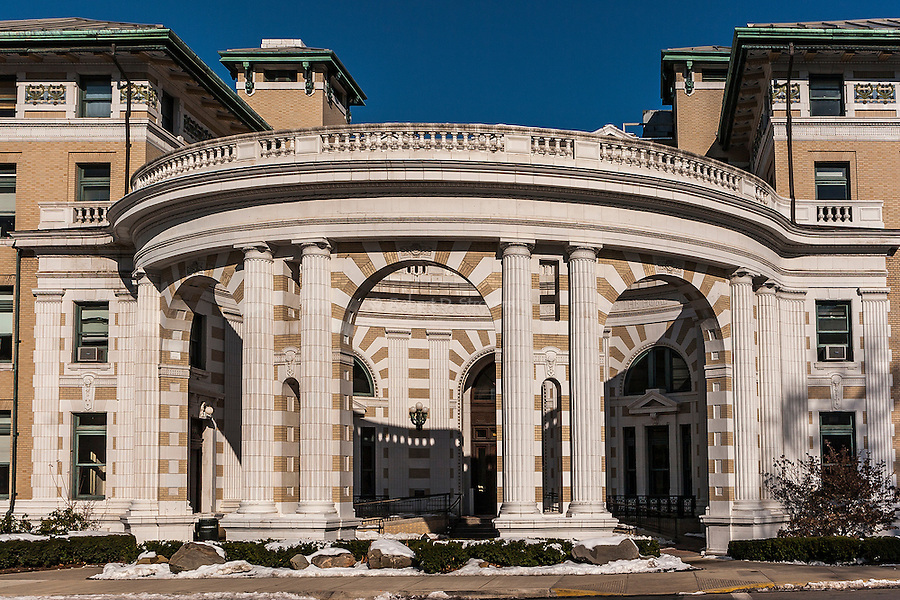 Campus and architectural detail, Carnegie-Mellon University, Pittsburgh.