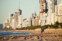 Beach & surf lifestyle photos - Looking south towards Surfers Paradise, Gold Coast, Australia