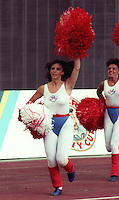 Montreal Concordes Cheerleaders 1984. Photo F. Scott Grant