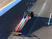 Feb 26, 2016; Chandler, AZ, USA; NHRA top fuel driver Doug Kalitta during qualifying for the Carquest Nationals at Wild Horse Pass Motorsports Park. Mandatory Credit: Mark J. Rebilas-