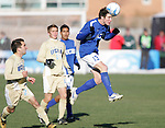 3 December 2006: UCSB's Chris Pontius (13) heads the ball. California-Santa Barbara defeated California-Los Angeles 2-1 at Robert R. Hermann Stadium in St. Louis, Missouri in the NCAA men's college soccer tournament final game to win the 2006 NCAA Championship.