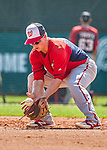 21 March 2015: Washington infielder Tony Renda warms up prior to a Spring Training Split Squad game against the Atlanta Braves at Champion Stadium at the ESPN Wide World of Sports Complex in Kissimmee, Florida. The Braves defeated the Nationals 5-2 in Grapefruit League play. Mandatory Credit: Ed Wolfstein Photo *** RAW (NEF) Image File Available ***