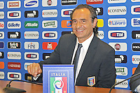 Rome, Italy - July 1, 2010 Football coach Cesare Prandelli attends his first press conference after being appointed manager of Italy's National football team.