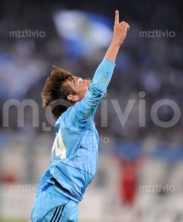 FUSSBALL  International  Champions League  SAISON 2009/2010   21.10.2009 FC Zuerich - Olympique Marseille  JUBEL Gabriel Heinze  (Marseille)