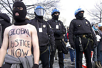 Protester at George W. Bush inauguration, Washington D.C. 2004
