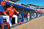 12 March 2012: Washington Nationals outfielder Bryce Harper stands on the steps of the dugout prior to a Spring Training game against the St. Louis Cardinals at Space Coast Stadium in Viera, Florida. The Nationals defeated the Cardinals 8-4 in Grapefruit League play. Mandatory Credit: Ed Wolfstein Photo