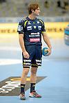 GER - Mannheim, Germany, September 23: Players warm-up before the DKB Handball Bundesliga match between Rhein-Neckar Loewen (yellow) and TVB 1898 Stuttgart (white) on September 23, 2015 at SAP Arena in Mannheim, Germany.  Uwe Gensheimer #3 of Rhein-Neckar Loewen<br /> <br /> Foto &copy; PIX-Sportfotos *** Foto ist honorarpflichtig! *** Auf Anfrage in hoeherer Qualitaet/Aufloesung. Belegexemplar erbeten. Veroeffentlichung ausschliesslich fuer journalistisch-publizistische Zwecke. For editorial use only.