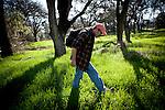 Hank Shaw forages in Orangevale, California, February 22, 2013.