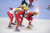 "SHORT TRACK: MOSCOW: Speed Skating Centre ""Krylatskoe"", 14-03-2015, ISU World Short Track Speed Skating Championships 2015, Semifinals Relay Ladies, CANADA, CHINA, ©photo Martin de Jong"