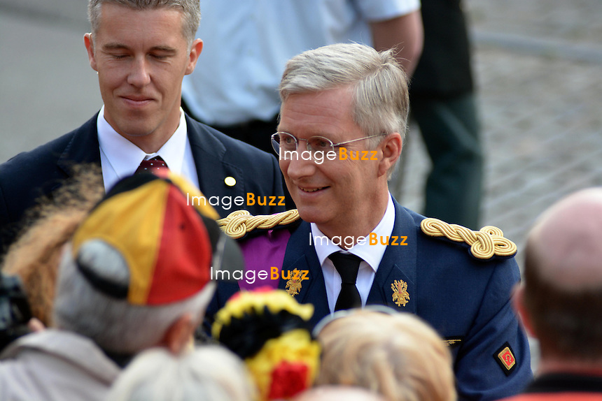 BRUSSELS, BELGIUM: The Royal Belgian Family attends the &quot; Te Deum &quot; ceremony at the Cathedral of St Michael and Saint Gudula July 21, 2013.<br /> Pictured: King Philippe