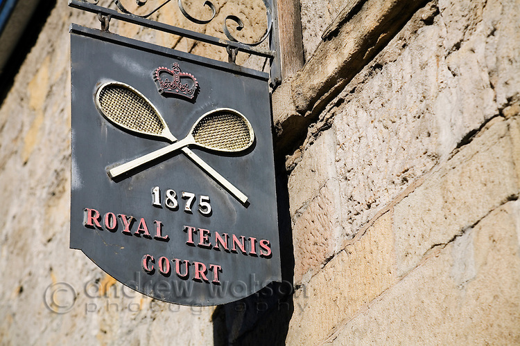The Royal Tennis Court in Hobart.  The court is one of only five royal tennis courts in Australia.  Hobart, Tasmania, AUSTRALIA