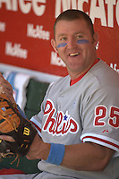 Jim Thome. Baseball: Philadelphia Phillies vs Oakland Athletics in Oakland on June 19, 2005.