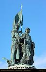 Jan Breydel and Pieter de Coninck, Heroes of the Battle of the Golden Spurs, Market Square, Bruges, Brugge, Belgium