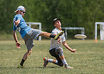 4 June 2016: Montpelier High School plays South Burlington High in the Open I Semi-Finals of the VYUL State Ultimate Disk Championships at Bombardier Park in Milton, Vermont. Mandatory Credit: Ed Wolfstein Photo *** RAW (NEF) Image File Available ***