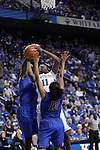 UK center DeNesha Stallworth shoots the ball during the second half of the women's basketball game v. Depaul University in Rupp Arena in Lexington, Ky., on Sunday, December 7, 2012. Photo by Genevieve Adams | Staff