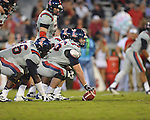 Ole Miss center Evan Swindall (56) vs. Georgia at Sanford Stadium in Athens, Ga. on Saturday, November 3, 2012.