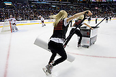 Los Angeles Kings Ice Girls during ice-hockey match between Los Angeles Kings and Phoenix Coyotes in NHL league, March 3, 2011 at Staples Center, Los Angeles, USA. (Photo By Matic Klansek Velej / Sportida.com)
