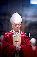 Cardinal Walter Kasper,Pope Benedict XVI celebrates a mass for Cardinals who died during the year on November 4, 2010 at St Peter Basilica at The Vatican.