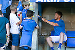 St Johnstone v Bradford City&hellip;19.07.16  McDiarmid Park, Perth. Pre-season Friendly<br />Danny Swanson signs autographs for young fans<br />Picture by Graeme Hart.<br />Copyright Perthshire Picture Agency<br />Tel: 01738 623350  Mobile: 07990 594431