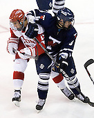 Justin Courtnall (BU - 19), Bryden Teich (Toronto - 8) - The Boston University Terriers defeated the visiting University of Toronto Varsity Blues 9-3 on Saturday, October 2, 2010, at Agganis Arena in Boston, MA.