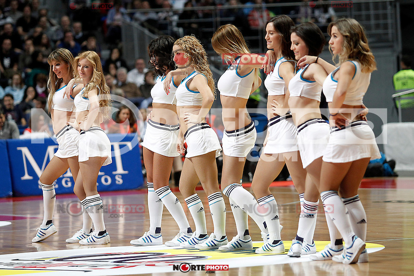 Real Madrid's cheerleaders during Euroleague 2012/2013 match.November 23,2012. (ALTERPHOTOS/Acero) /NortePhoto