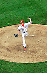 31 March 2011: Washington Nationals pitcher Sean Burnett on the mound in relief against the Atlanta Braves at Nationals Park in Washington, District of Columbia. The Braves shut out the Nationals 2-0 on Opening Day to start the 2011 Major League Baseball season. Mandatory Credit: Ed Wolfstein Photo