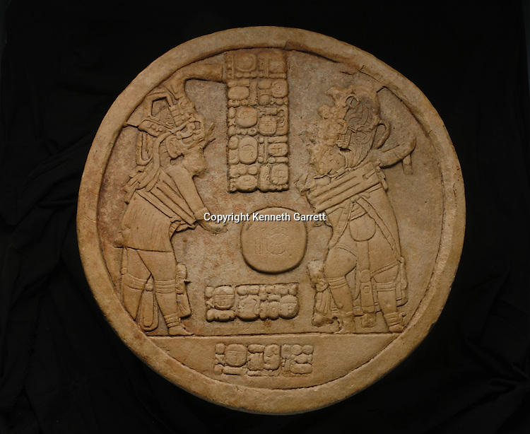 Maya rise and Fall, Cancuen Panel 3 Ballcourt markers 1, 2, 3 all dated to 795 AD, ball court marker 2 looted and recovered in 2001, ball court marker 1 found in 1915, Ball court marker 3 found in 2004, Arthur Demarest