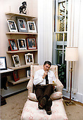 United States President Ronald Reagan prepares his Inaugural Address in the private study off the Oval Office in the White House in Washington, D.C. on Saturday, January 19, 1985..Mandatory Credit: Pete Souza - White House via CNP