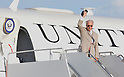 Joe Biden, Tokyo, Japan, August 24, 2011 : U.S. Vice President Joe Biden waves before boarding  Air Force Two at Yokota Air Base in Tokyo, Japan, on August 24, 2011. (Photo by AFLO) [3620]