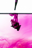 SOLUBILITY (DIFFUSION) OF DYE IN WATER<br /> The Molecules Of The Liquids Mingle<br /> If the molecules were not moving, the dye and water would not mix on their own. They would have to be stirred.